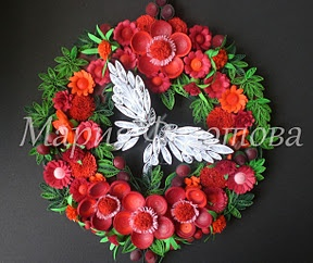 Quilled wreath  http://mariyafedotova.blogspot.com/2011/11/blog-post_19.html?showComment=1321719796823