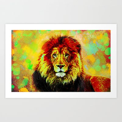 Burned Lion Art Print by Ace of Spades - $15.00