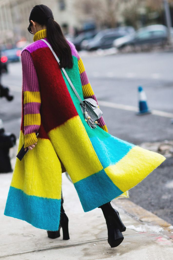 Cheer Everyone Up With a Multicolored Coat