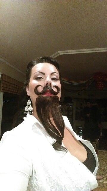 DIY Bearded Lady Halloween Costume Idea 5