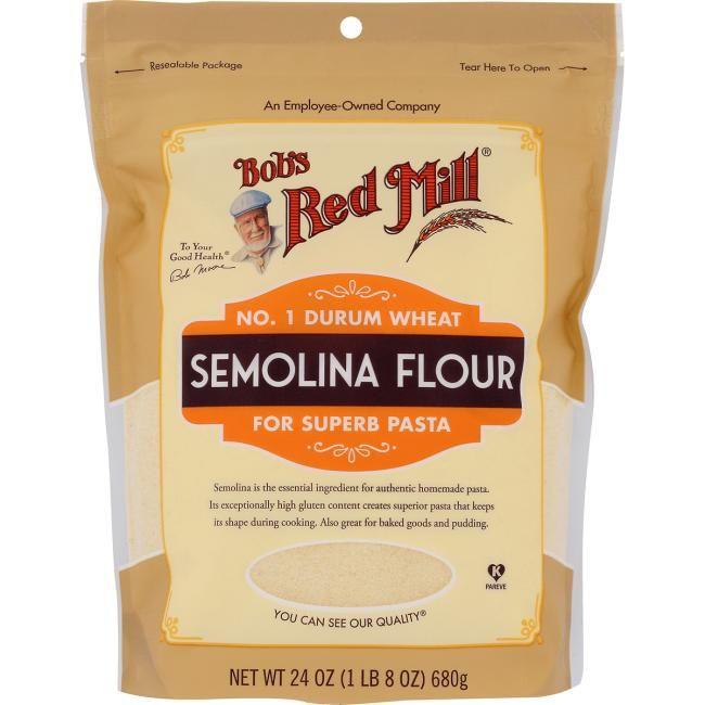Bob S Red Mill Semolina Flour 24 Oz Pkg Swanson Health Products Red Mill Flour Semolina Bobs Red Mill