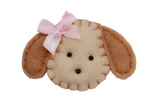 New: Felt Puppy Hair Clip and Pastel Baby Bows — Hair Fairy Clips