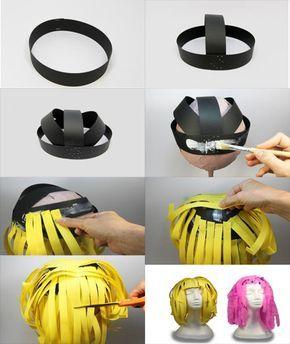 Pelucas de papel para disfraces   Manualidades faciles capsulas nespresso