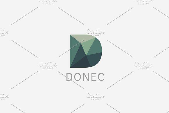 Polygon letter D logo. Colorful font by Bureau on @creativemarket