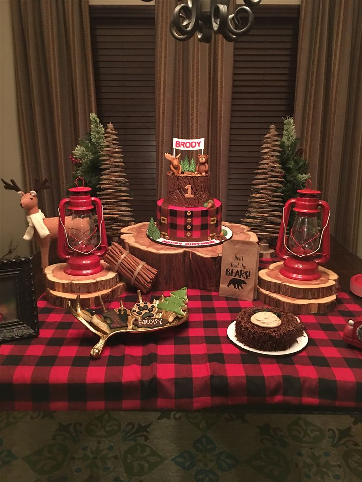 25 best ideas about lumberjack party on pinterest for Baby birthday party decoration