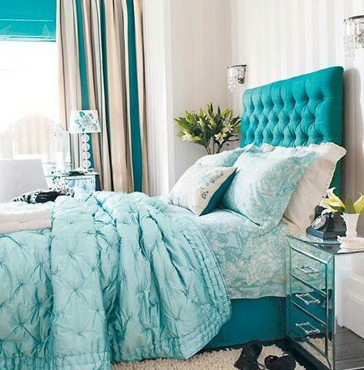 Teal inspired room