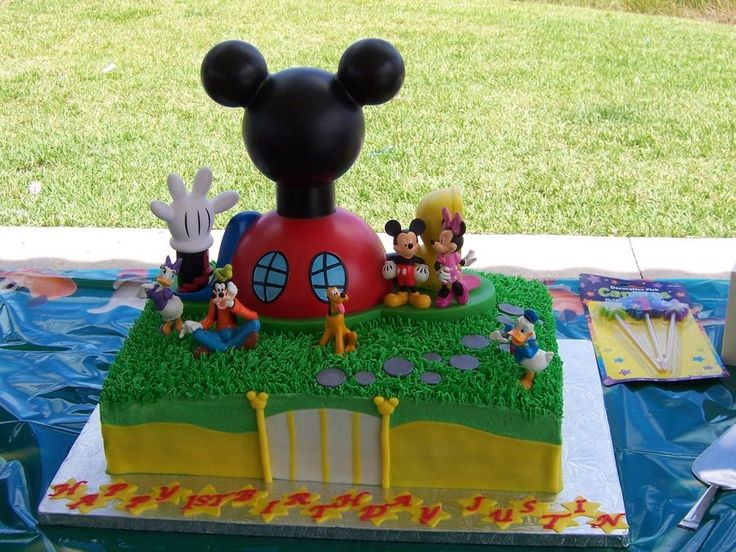 Justin's Mickey Mouse Clubhouse!  on Cake Central