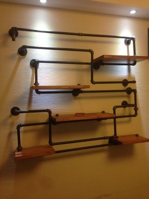 Cheap Shelves Galvanized Pipe And Shelf Display On Pinterest