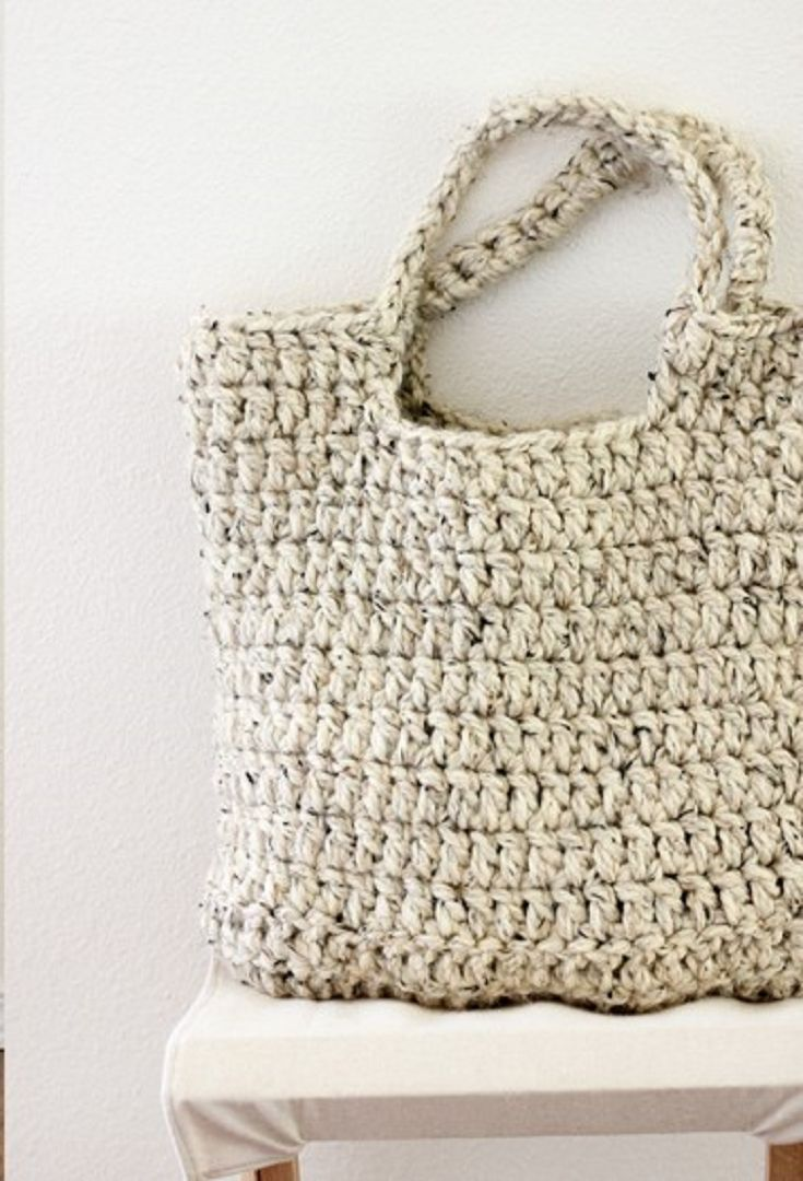 [Free Pattern] This Crochet Tote Is Perfect!