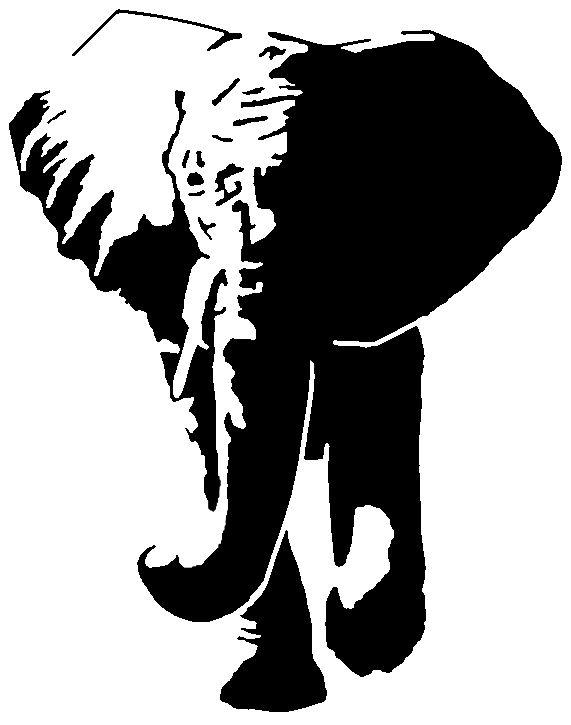Big 5 Elephant Crafts Patrone Silhouette Animal