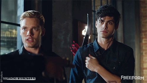"""reaction when Magnus says """"pretty boy"""" and jace walks up, but he says """"not you"""" since he means Alec XD"""