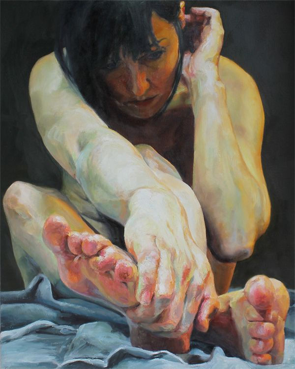 Paintings byCara Thayer and Louie Van Patten...