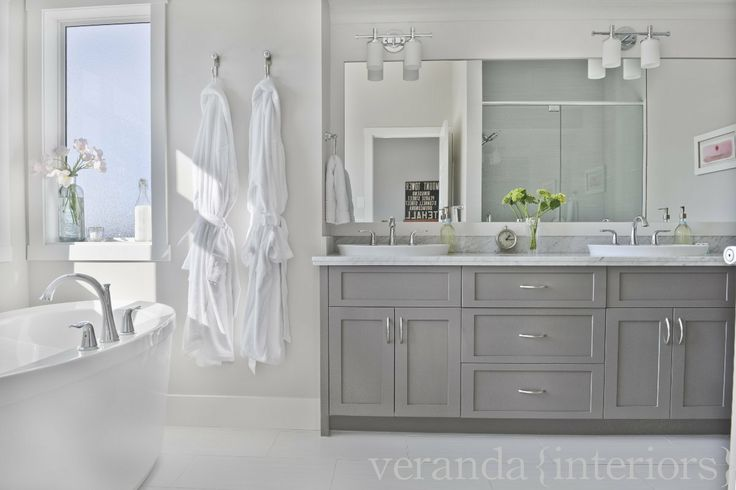 Montgomery Ensuite // Veranda Estate Homes & Interiors...I LOVE how clean this looks!!