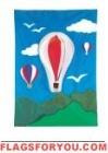 3-D R,W,B Hot Air Balloon House Flag
