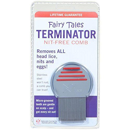 Fairy Tales Terminator Lice and Nit Comb (Color may vary)...