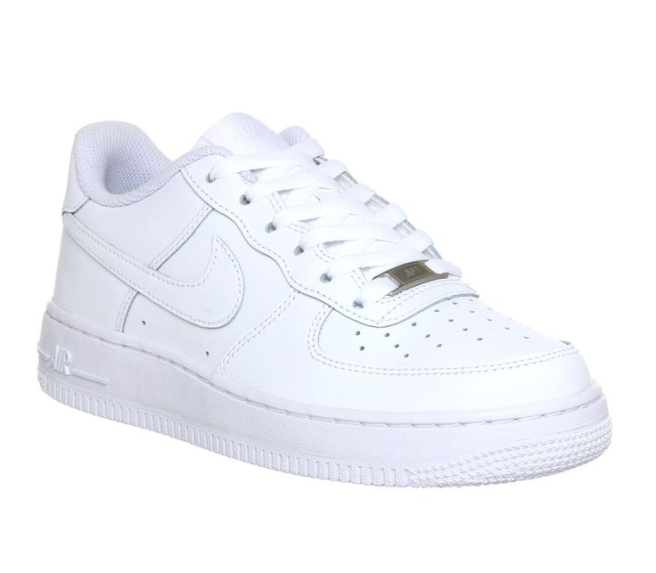 Nike Air Force 1 GS White - Kids Trainers
