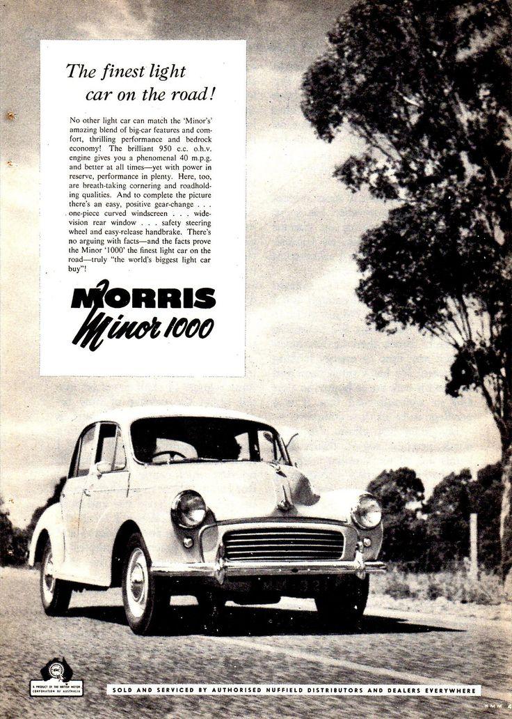 https://flic.kr/p/Qgvzpt   1959 Morris Minor 1000 BMC Aussie Original Magazine Advertisement