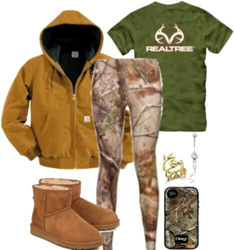 Realtree Camo....no uggs tho..... & the leggings would cute under a pair of holey jeans