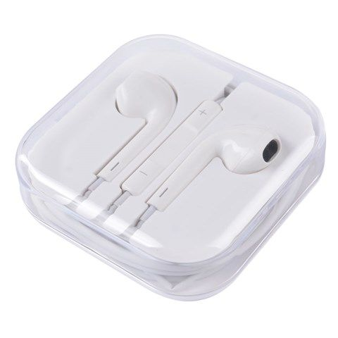 In-Ear Earphones with Volume Remote and Microphone - 3.5mm (White) #ear #phone #volume #remote #microphone