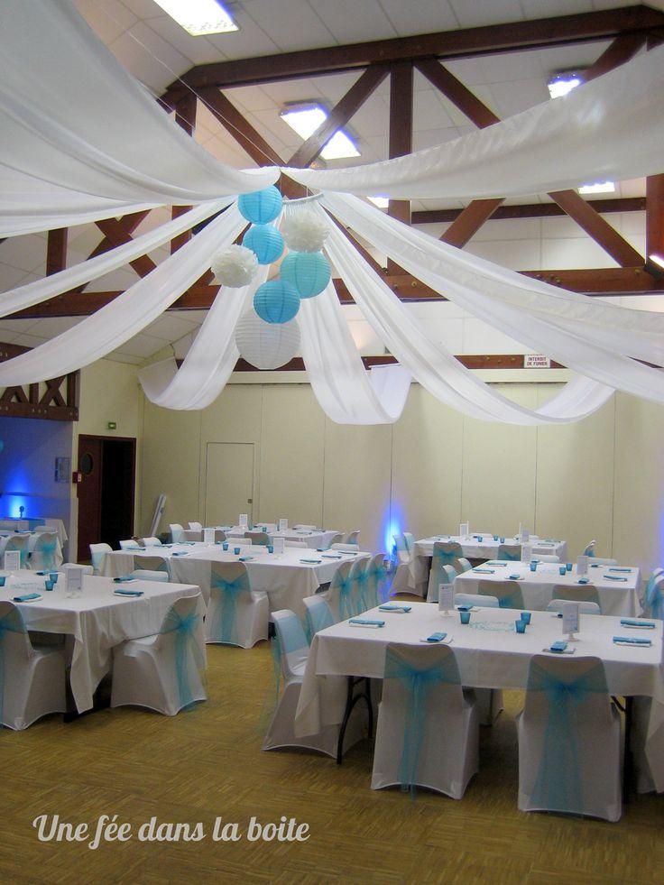 Mariage turquoise et blanc Après...