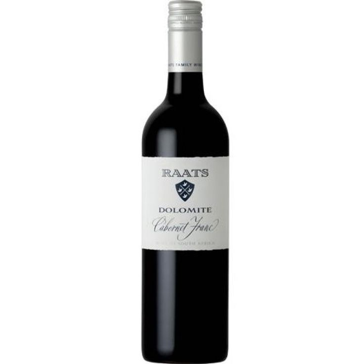 Raats 'Dolomite' Cabernet Franc. The nose promises mulberries and plummy fruitiness. Dark berry fruit and a minty herbaceousness linger on the palate. The wine is elegant, showing great purity of fruit and is extremely moreish, with a hint of wet-stone minerality.