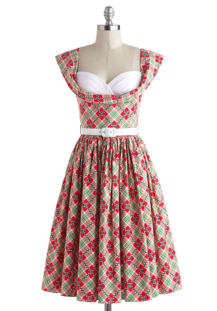 Amour and More Dress in Plaid / Bernie Dexter at modcloth