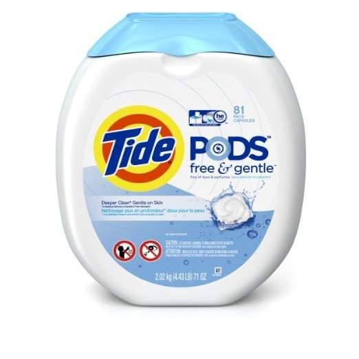 #Amazon: 81-Count Tide Pods Free & Gentle HE Turbo Laundry Detergent Pacs $13.04  Free Shipping #LavaHot http://www.lavahotdeals.com/us/cheap/81-count-tide-pods-free-gentle-turbo-laundry/63654
