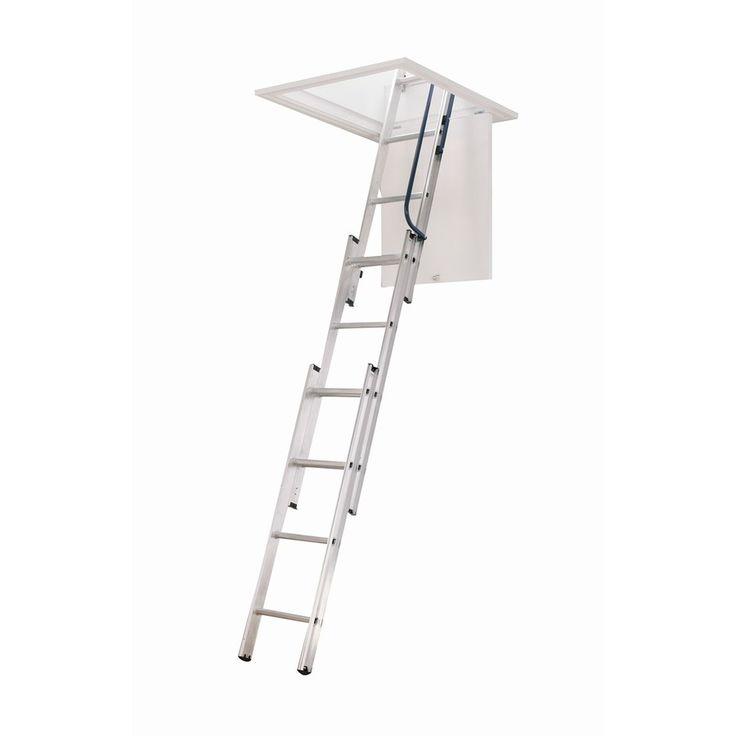 Shop Werner 10 Ft Aluminum Attic Ladder At Lowes Com Attic Ladder Attic Stairs Attic Flooring