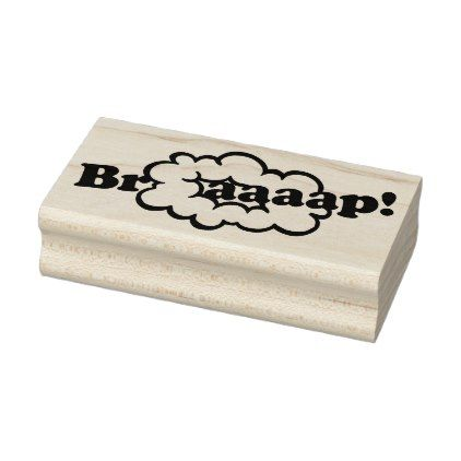 #Braap! Smoke Ring 2-Stroke Engine Dirt Bike Sound Rubber Stamp - #office #gifts #giftideas #business