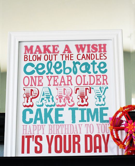 Free party printable from eighteen25: {birthday week} a gift for YOU