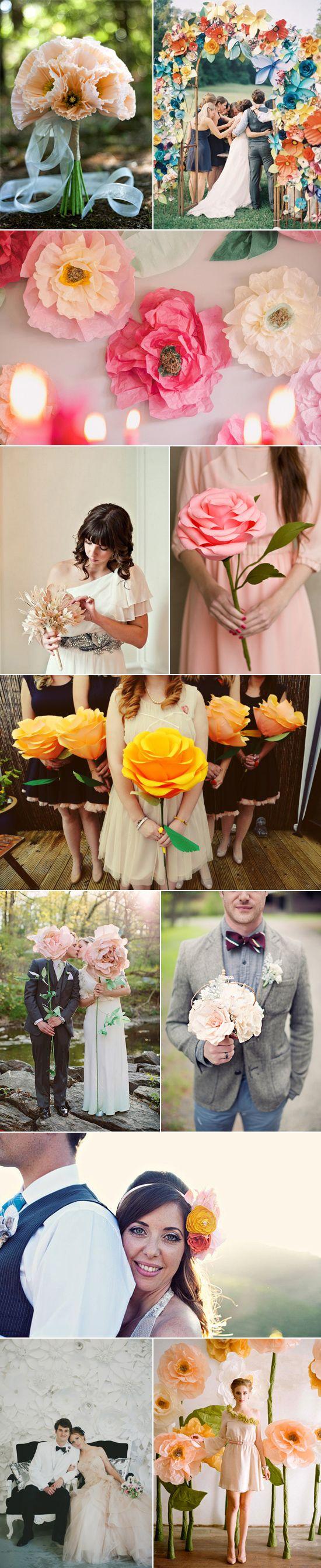 Paper Flower Wedding Ideas - Polka Dot Bride