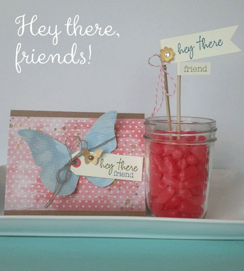 WELCOME KIT- I found this on stampinup.com  Great idea to make with your Paper Pumpkin stamps!