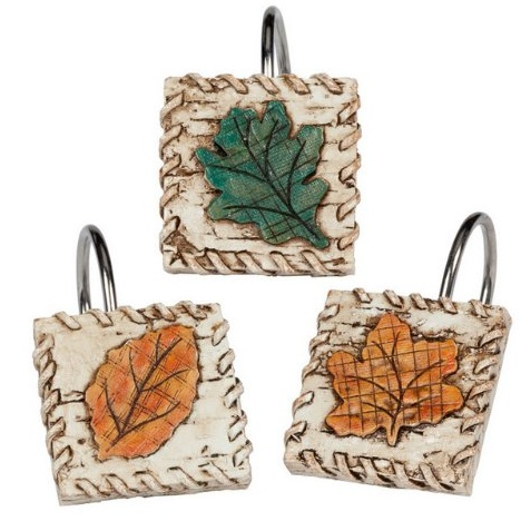 Captivating Wilderness Retreat Leaf Shower Curtain Hooks Are A Great Way To Finish Off  Your Bathroom Decor