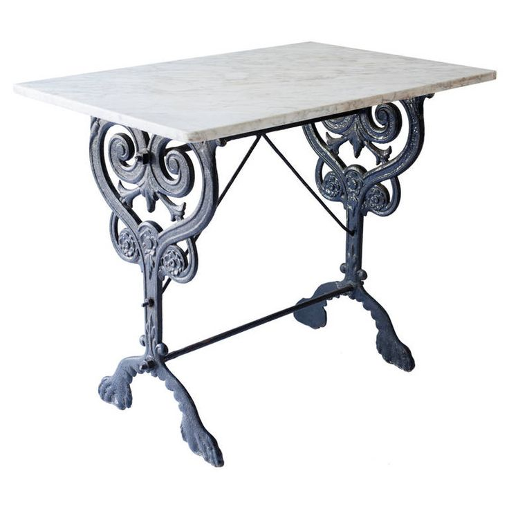 French Console Table With Marble Top And Elaborate Base Ideas