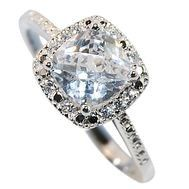 Sterling Silver Jewellery, Cubic Zirconia Engagement Ring