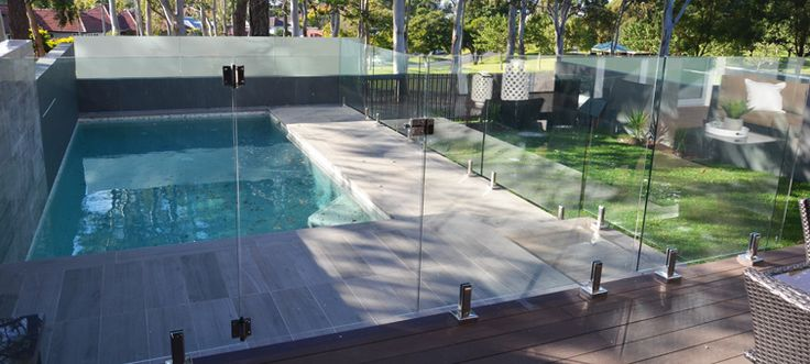 Frameless Glass Pool Fencing Swimming Pools Brisbane Pool Fencing Pinterest Products