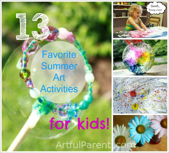 Kids Crafts Ideas For Summer Part - 45: 13 Favorite Summer Art Activities For Kids