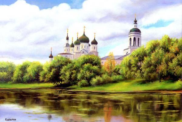 Капырин Сергей Оптина Пустынь вид с реки.