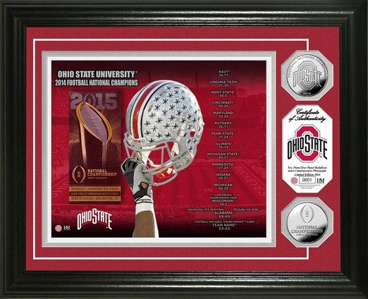 Ohio State 2014 College Football National Champions Silver Coin Photo Mint framed picture