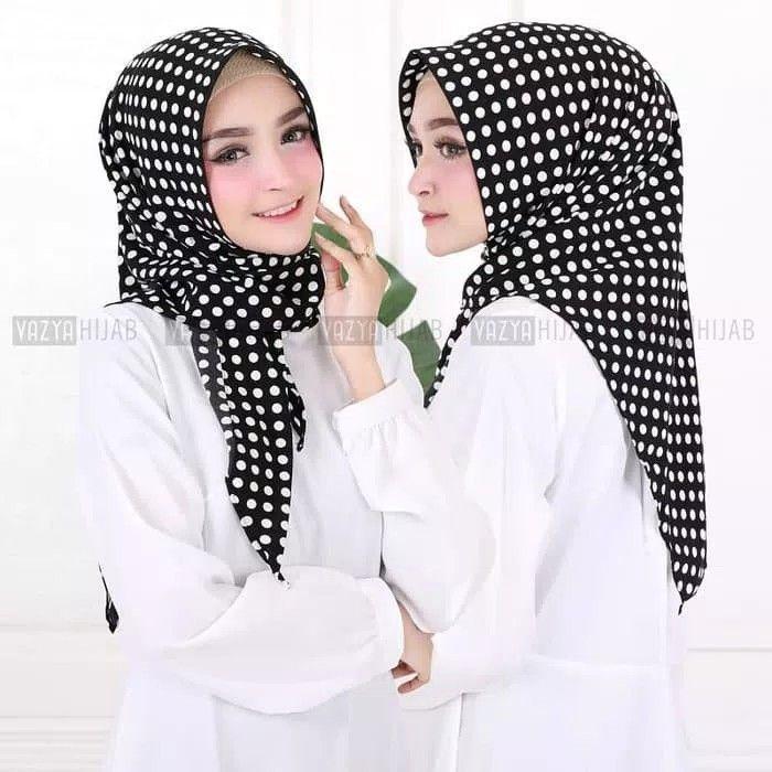Triangle Segitiga Instant Polkadot Hijab Segitiga Instan Motif Polkadot Praktis Langsung Slup Tanpa Peniti Atau Jarum Pentul Namun T Gaya Hijab Polkadot Hijab