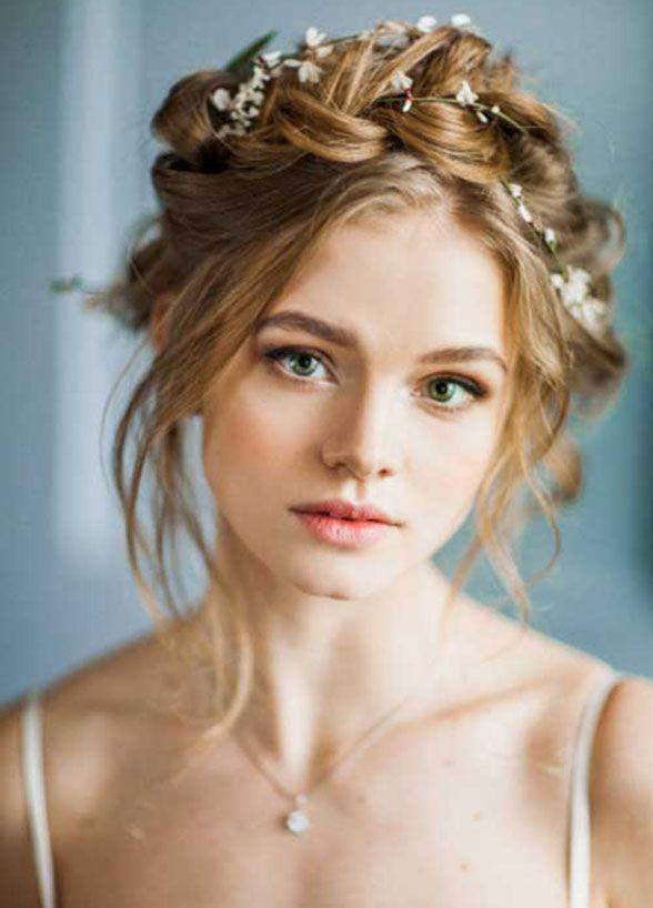 Les Meilleures Images Du Tableau Hair Sur Pinterest - Wedding hairstyle romantic with flowers