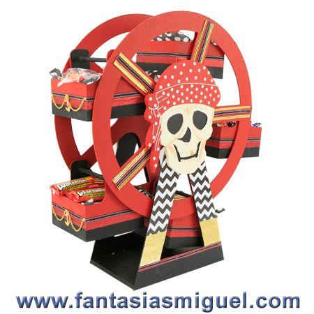 Despachador De Dulces Rueda De La Fortuna Pirata