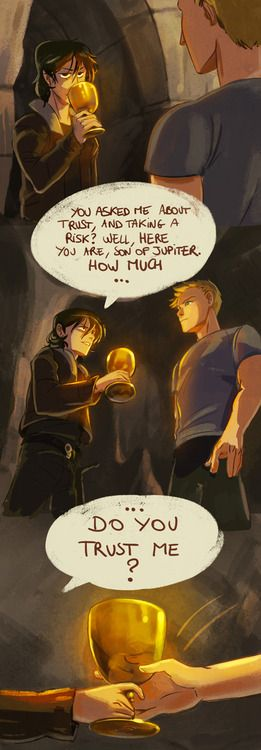"This is one of my favorite scenes and this pic makes it seem so much more real. ""How much do you trust me?""- Nico di Angelo Part 1/2 