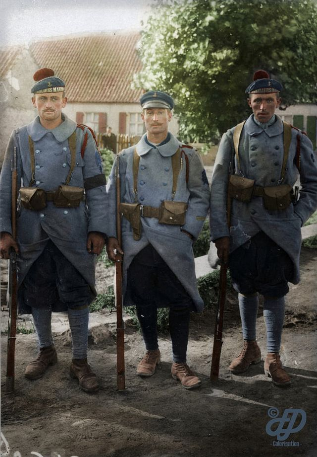 29 Incredible Colorized Photos of French Army during WWI