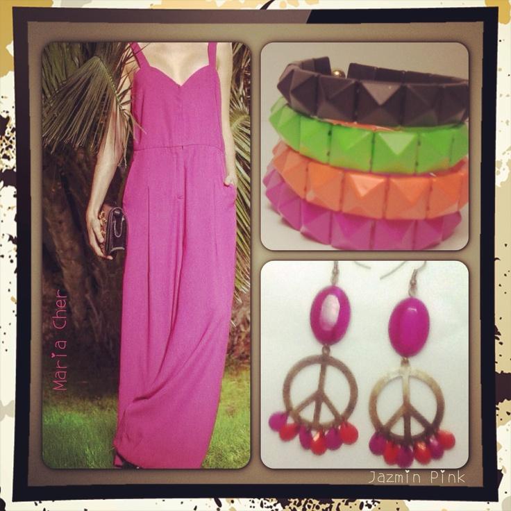 Mono by #Maria Cher  Pulseras tachitas  Aros Monin #earrings #mode #fashion #accesories #accessories #jewelry #look #fashionaccessories #luxjewelry #peace #studs #gold #style #bracelets