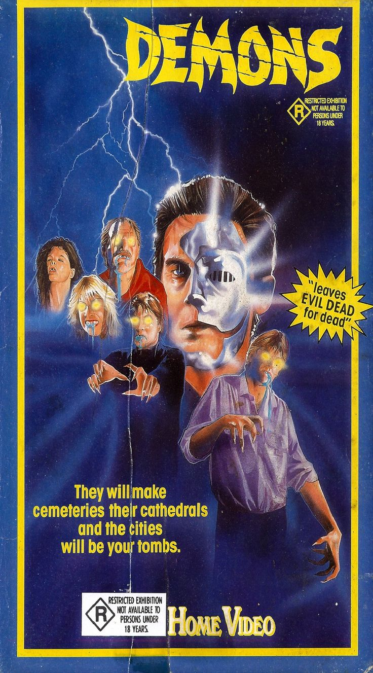 Demons (1985), VHS (With images) | Demon book, Movie ...
