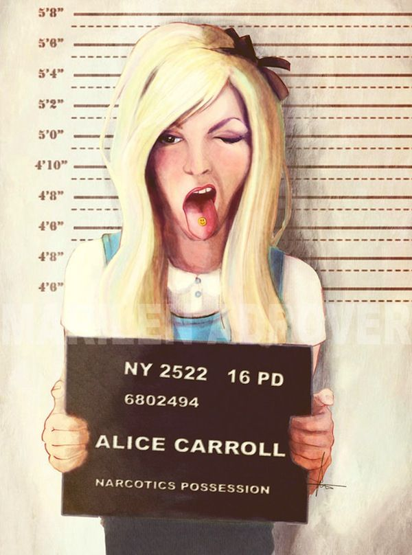 Illustrated Mugshots Of Fairytale Characters Give These Stories A Dark Twist - DesignTAXI.com