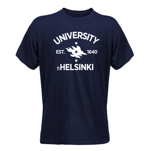 Mens t-shirt Est.1640, navy - Helsinki university shop