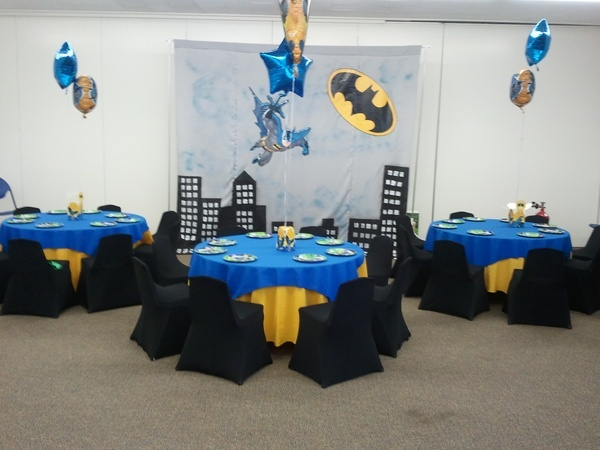table cloth idea - blue and yellow