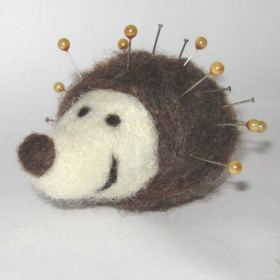 hedgehog pin cushion by colouritgreen on Etsy, £8.00